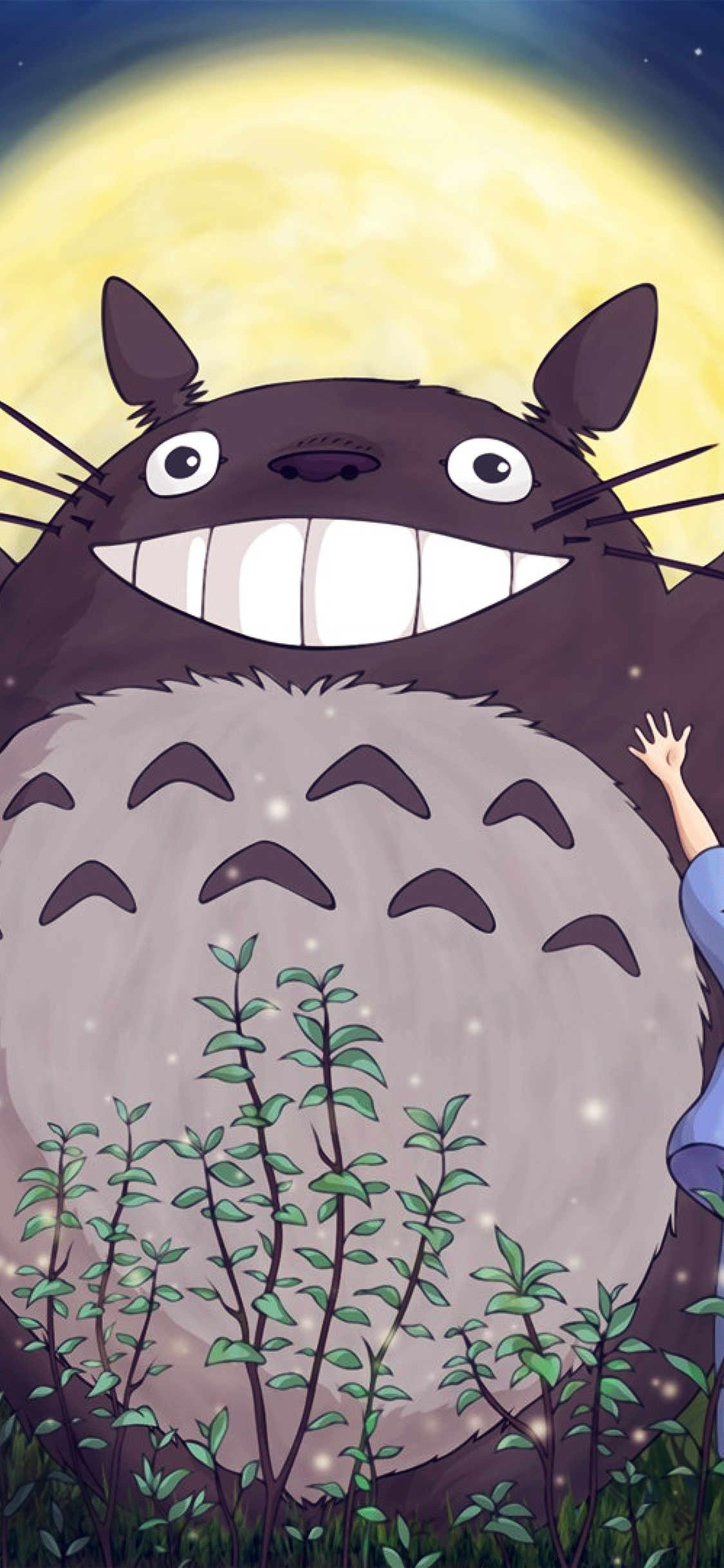 iPhoneXpapers.com-Apple-iPhone-wallpaper-au60-totoro-forest-anime-cute-illustration-art-blue