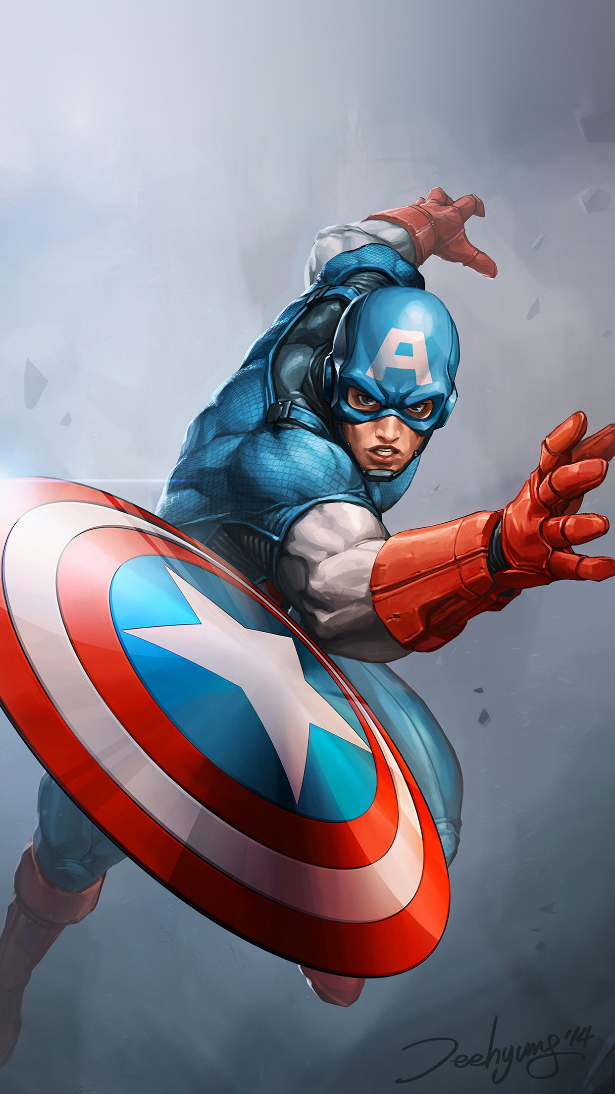 Iphone wallpaper au72 hero captain america - Classic art wallpaper iphone 5 ...