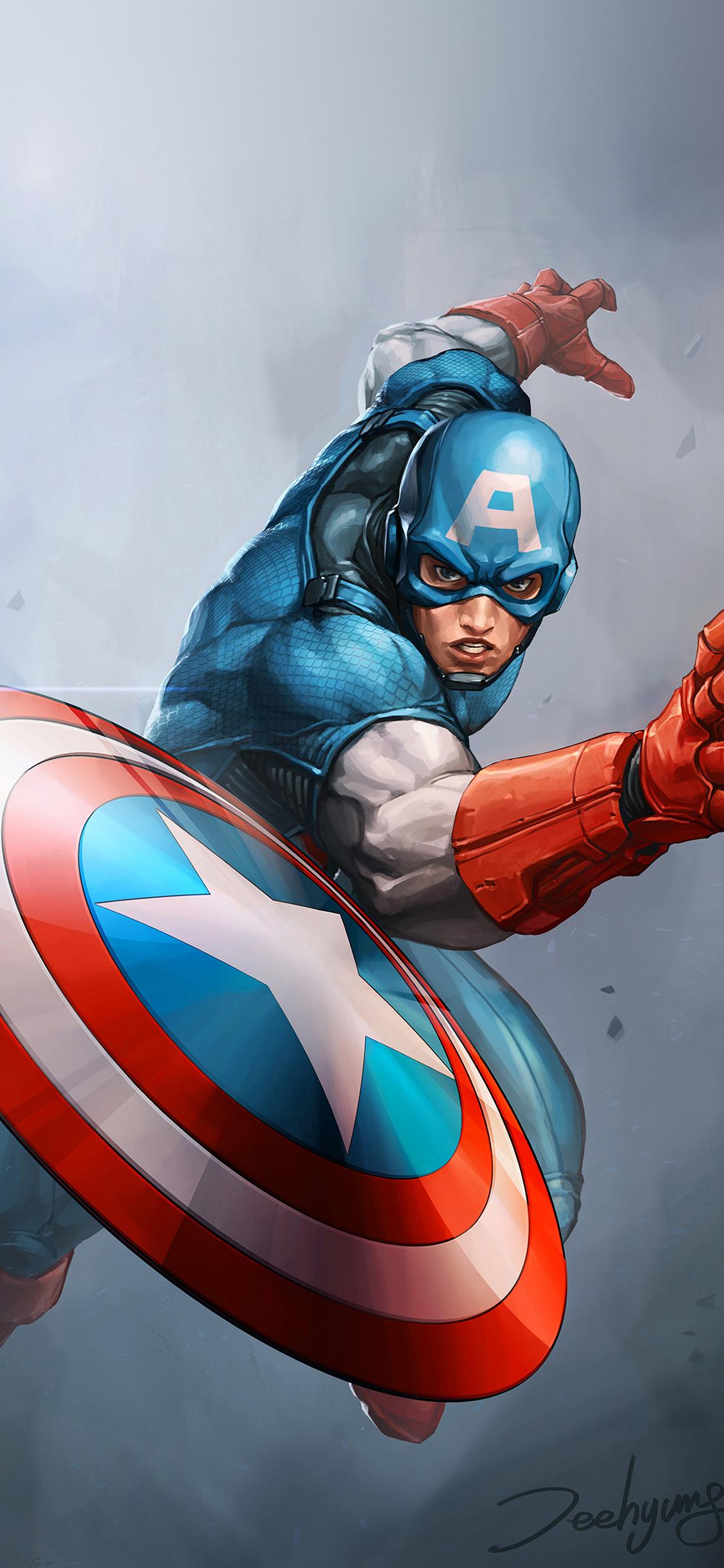 Iphonepapers Com Iphone 8 Wallpaper Au72 Hero Captain America