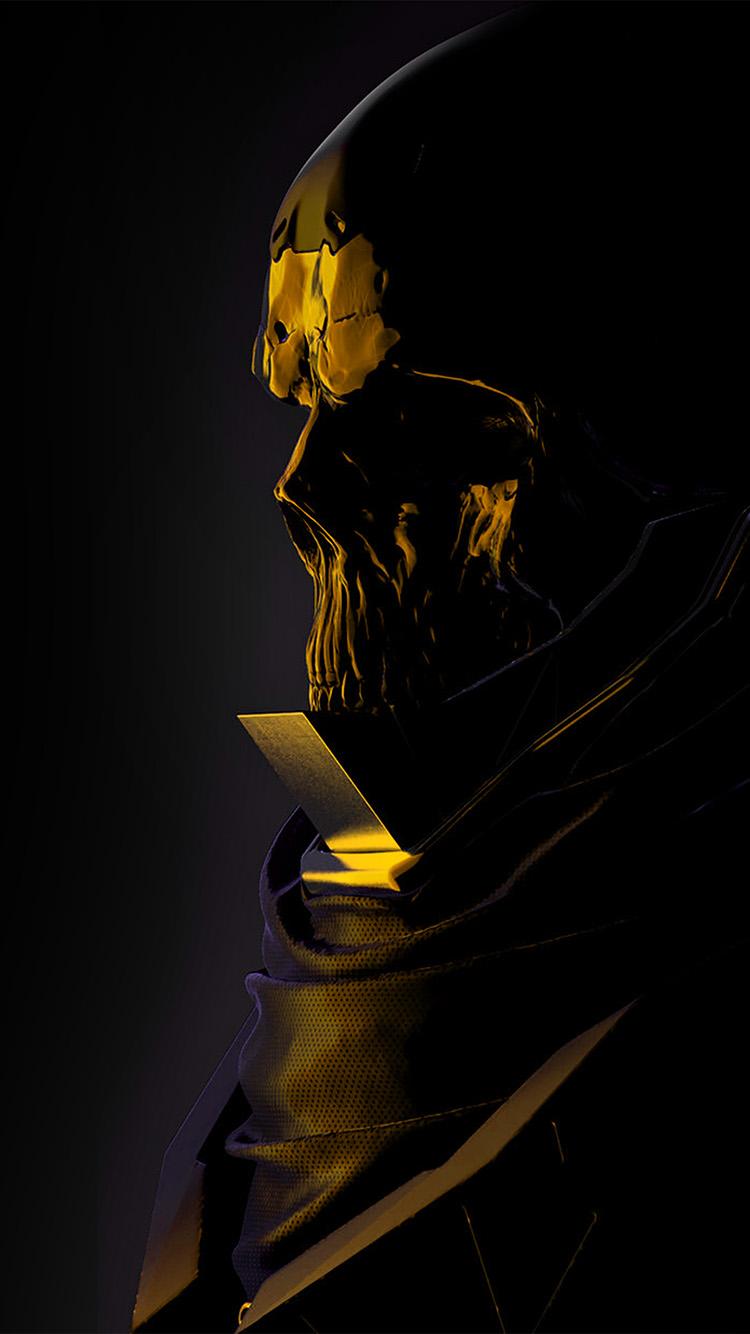 Papers.co-iPhone5-iphone6-plus-wallpaper-au75-mario-stabile-weird-dark-illustration-art-skull-gold