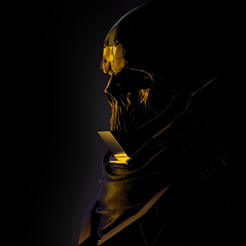 android-wallpaper-au75-mario-stabile-weird-dark-illustration-art-skull-gold-wallpaper