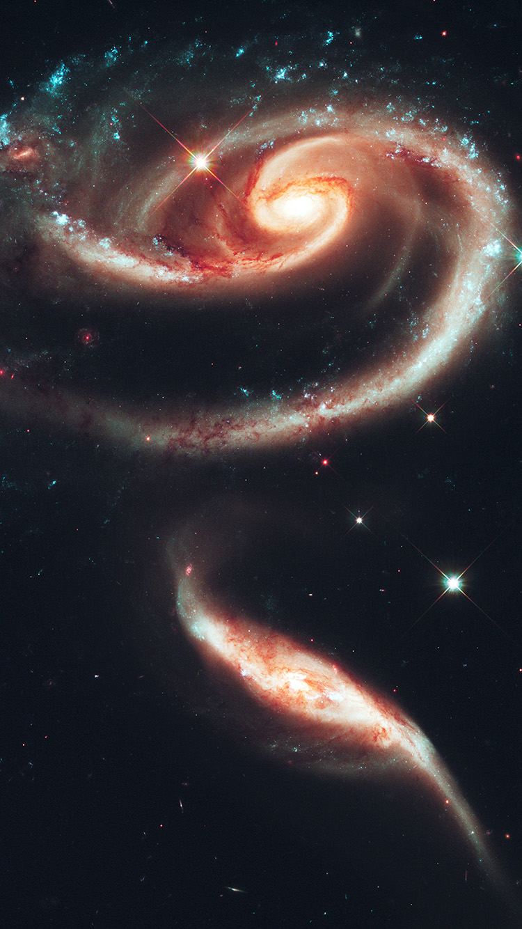 papers.co au90 galaxy universe space dark illustration art red 33 iphone6 wallpaper
