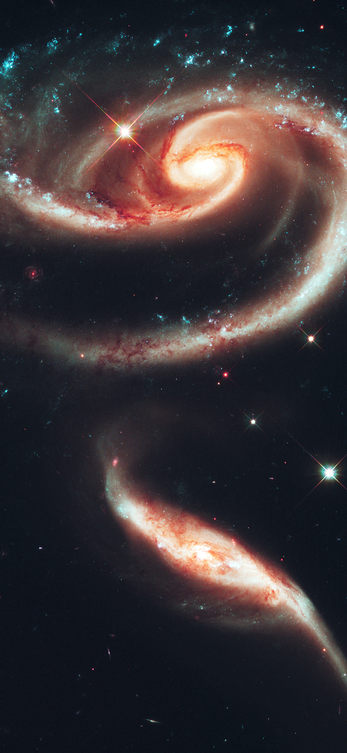 iPhoneXpapers.com-Apple-iPhone-wallpaper-au90-galaxy-universe-space-dark-illustration-art-red