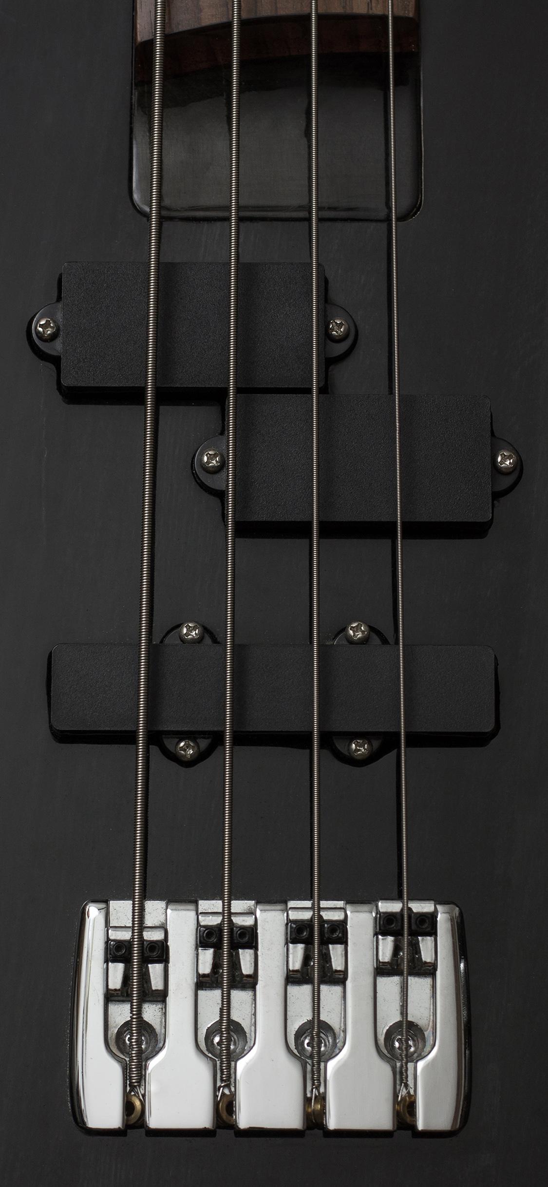 Au91 Guitar Bass Electric Music Dark Black Illustration Art Wallpaper