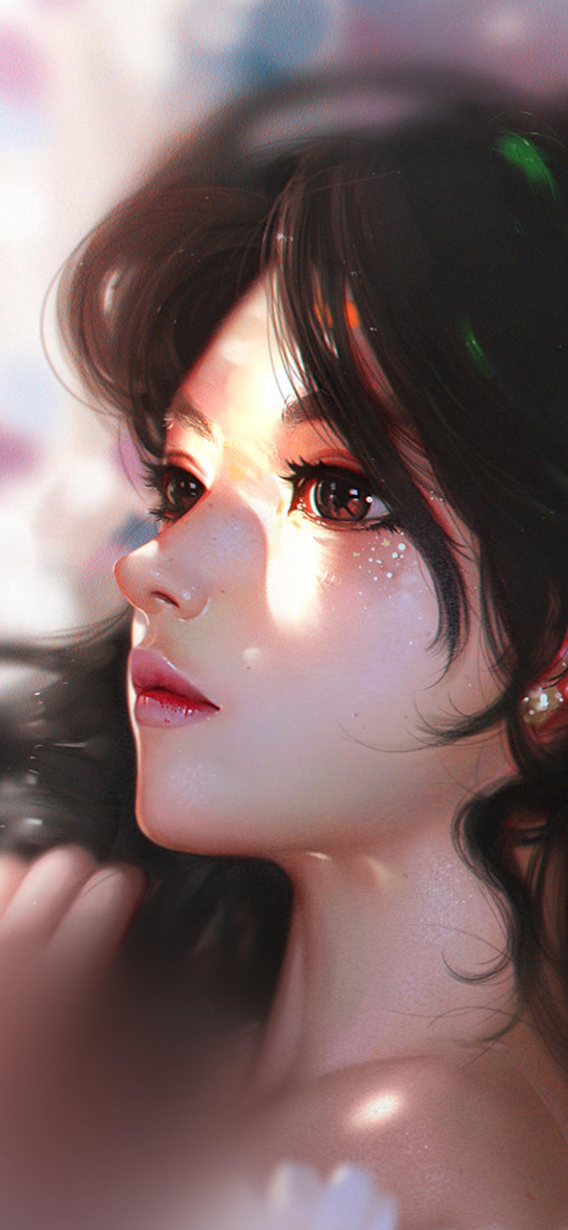 iPhoneXpapers.com-Apple-iPhone-wallpaper-au92-liang-xing-daisy-cute-girl-illustration-art