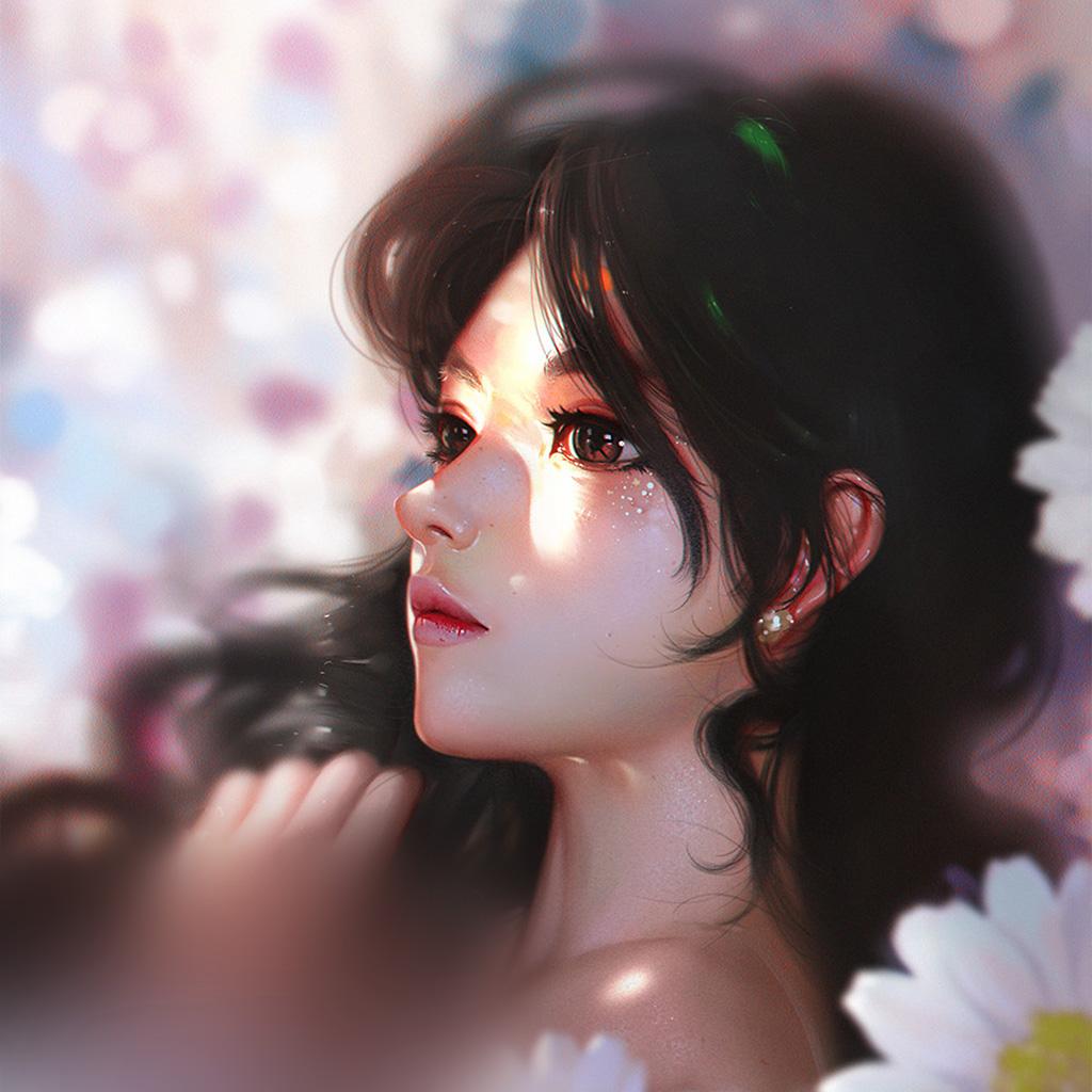 wallpaper-au92-liang-xing-daisy-cute-girl-illustration-art-wallpaper