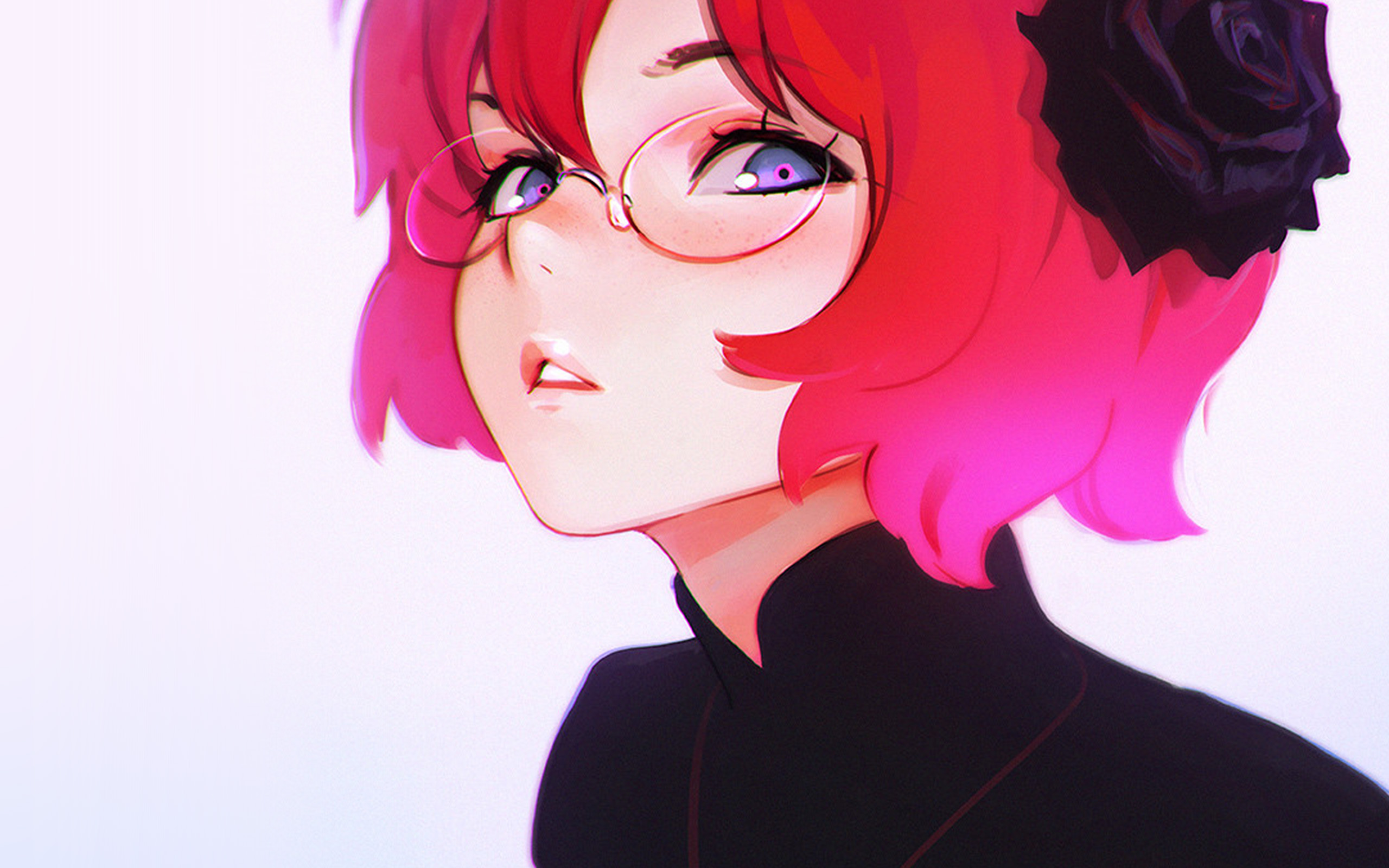 Anime Girl With Short Dark Blue Hair