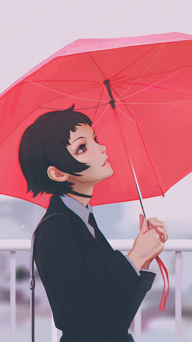iPhone7papers.com-Apple-iPhone7-iphone7plus-wallpaper-av01-girl-rain-umbrella-ilya-kuvshinov-red-illustration-art