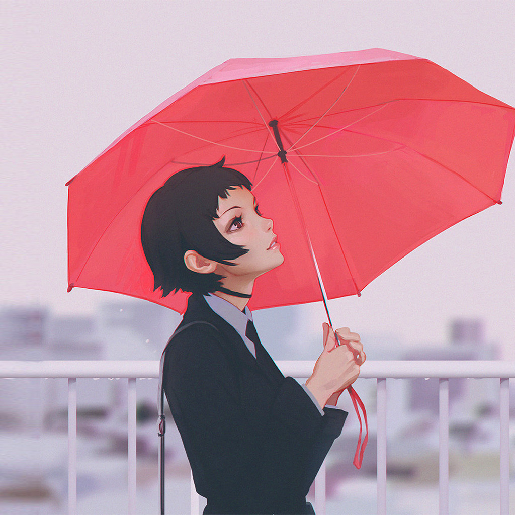 android-wallpaper-av01-girl-rain-umbrella-ilya-kuvshinov-red-illustration-art-wallpaper