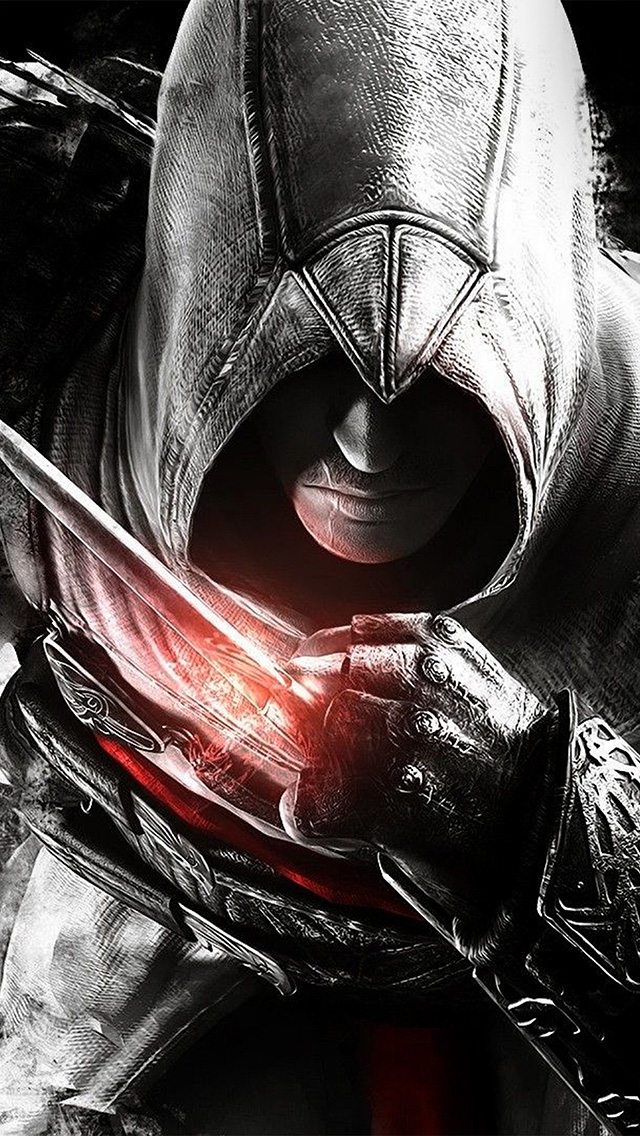 freeios8.com-iphone-4-5-6-plus-ipad-ios8-av03-assassins-creed-dark-game-hero-illustration-art