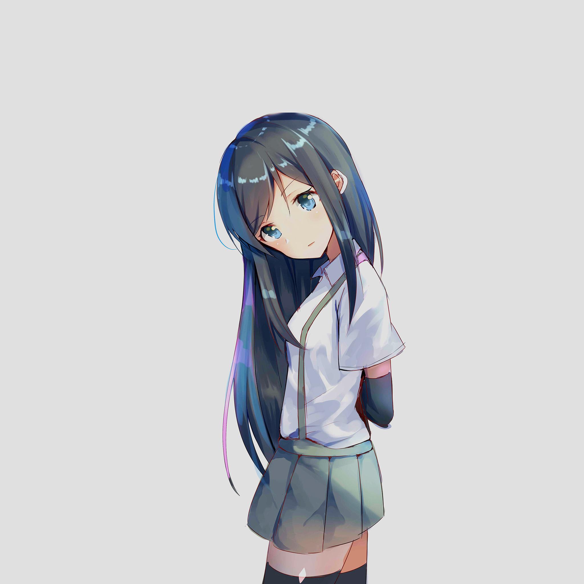 Av17 Anime Asashiho Kantai Girl Illustration Art Wallpaper