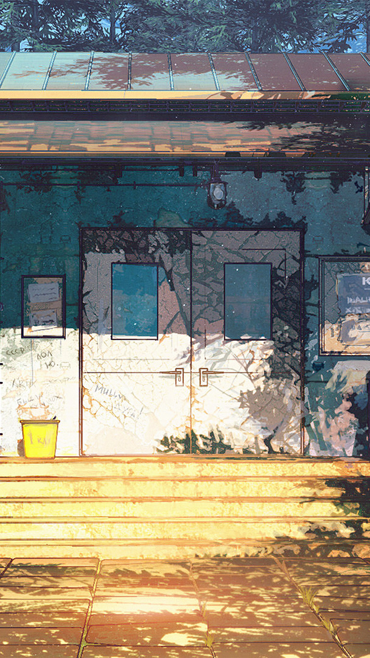 iPhone6papers.co-Apple-iPhone-6-iphone6-plus-wallpaper-av21-camp-wood-house-anime-illustration-art-arseniy-chebynkin