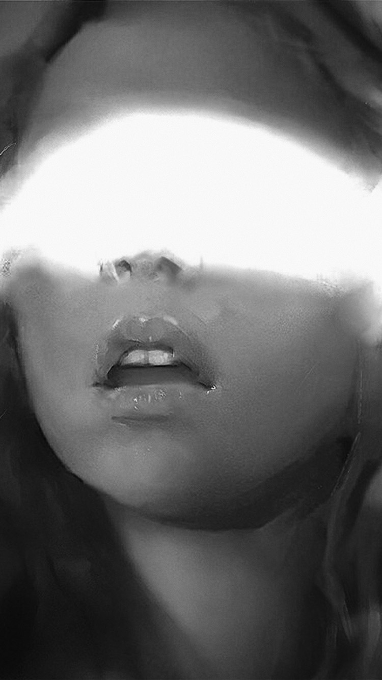 Papers.co-iPhone5-iphone6-plus-wallpaper-av23-face-art-girl-yanjun-cheng-paint-illustration-art-bw-dark