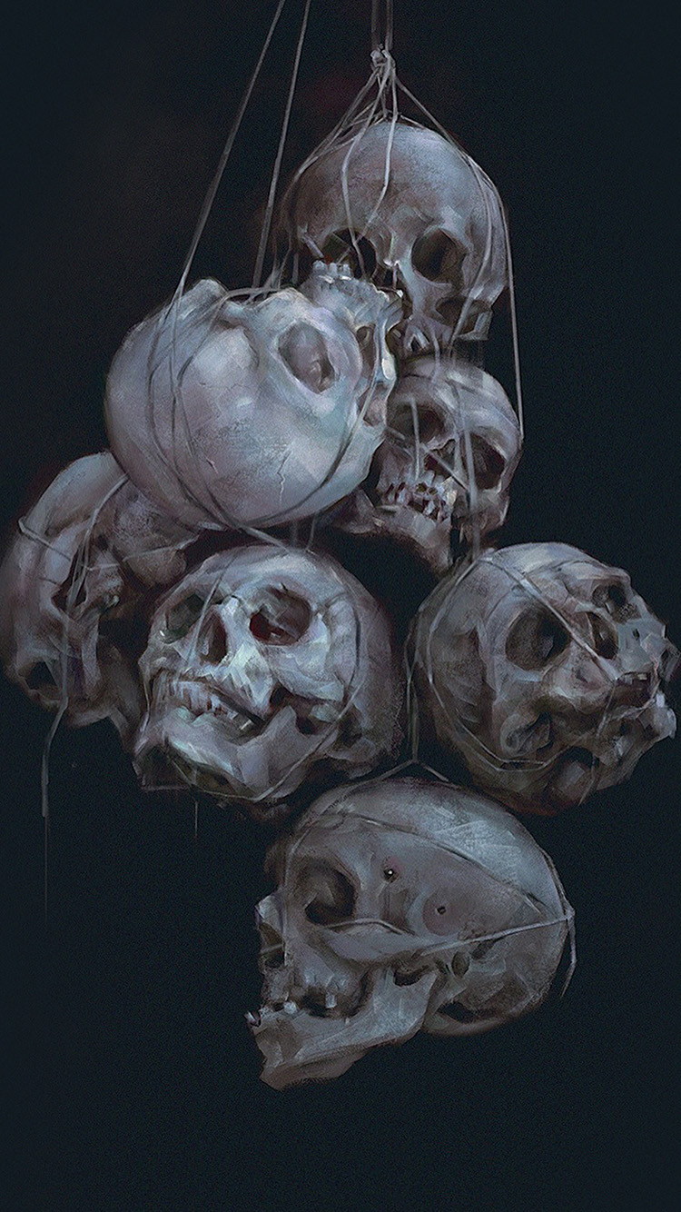 iPhone7papers.com-Apple-iPhone7-iphone7plus-wallpaper-av24-paint-skull-blue-dark-yanjun-cheng-illustration-art