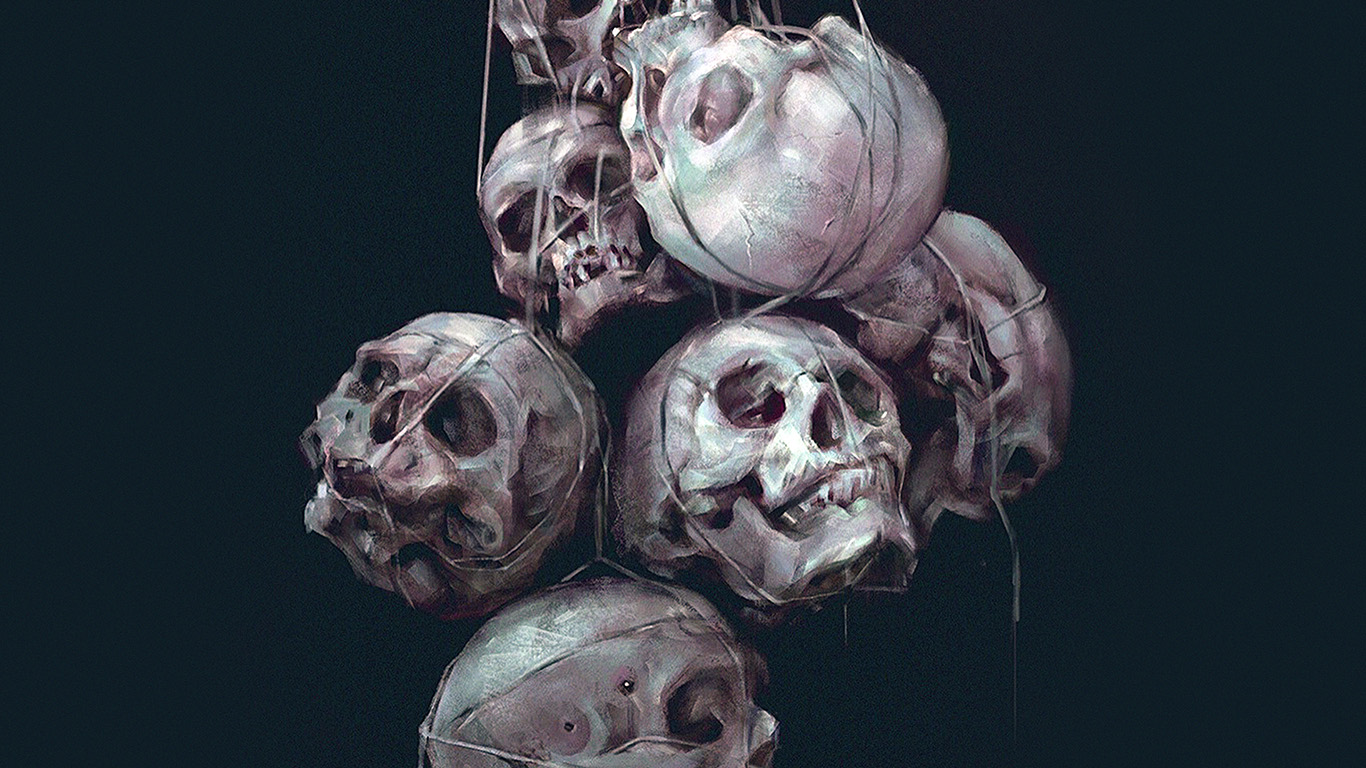 desktop-wallpaper-laptop-mac-macbook-air-av25-paint-skull-green-dark-yanjun-cheng-illustration-art-wallpaper