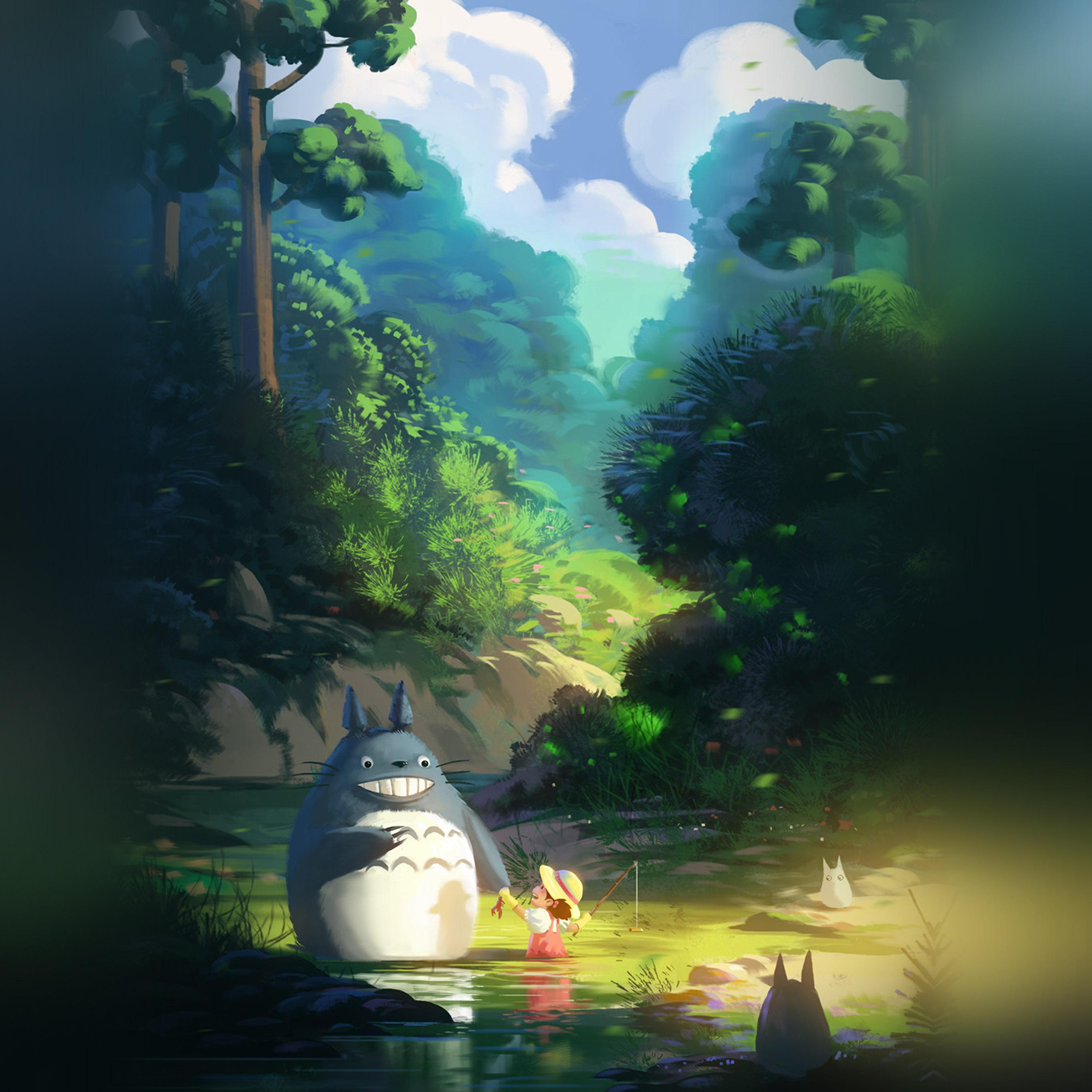 Av33 Totoro Anime Liang Xing Illustration Art Wallpaper