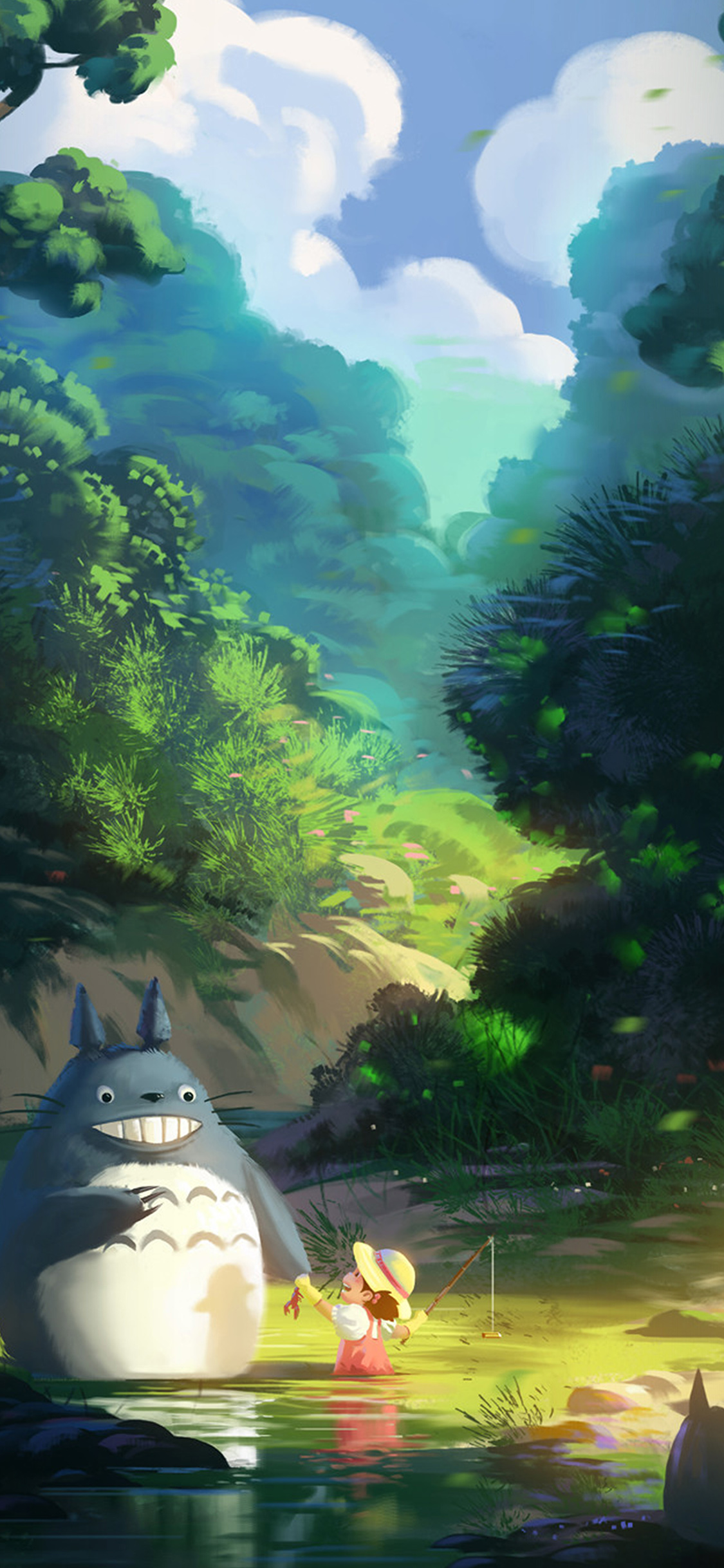 iPhoneXpapers.com-Apple-iPhone-wallpaper-av33-totoro-anime-liang-xing-illustration-art