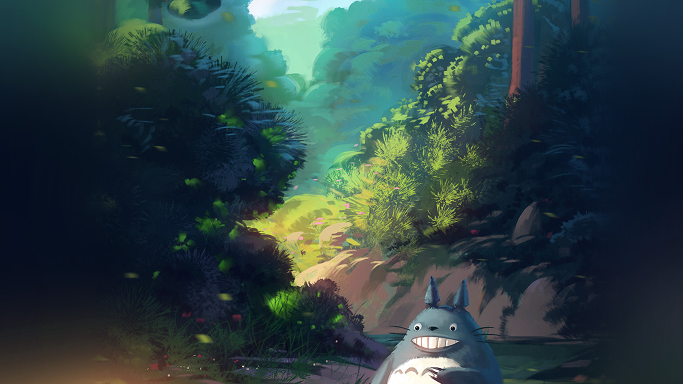 wallpaper-desktop-laptop-mac-macbook-av34-totoro-anime-liang-xing-illustration-art-blue