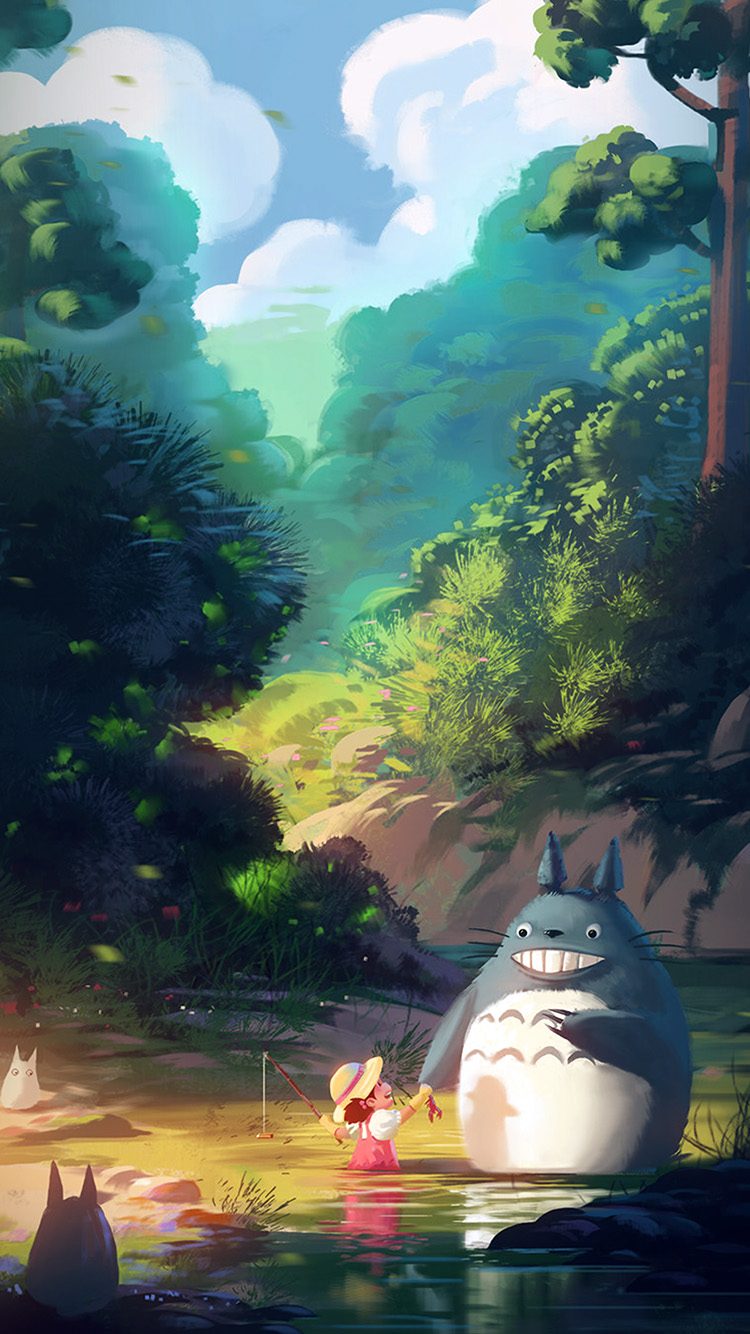 iPhonepapers.com-Apple-iPhone-wallpaper-av34-totoro-anime-liang-xing-illustration-art-blue