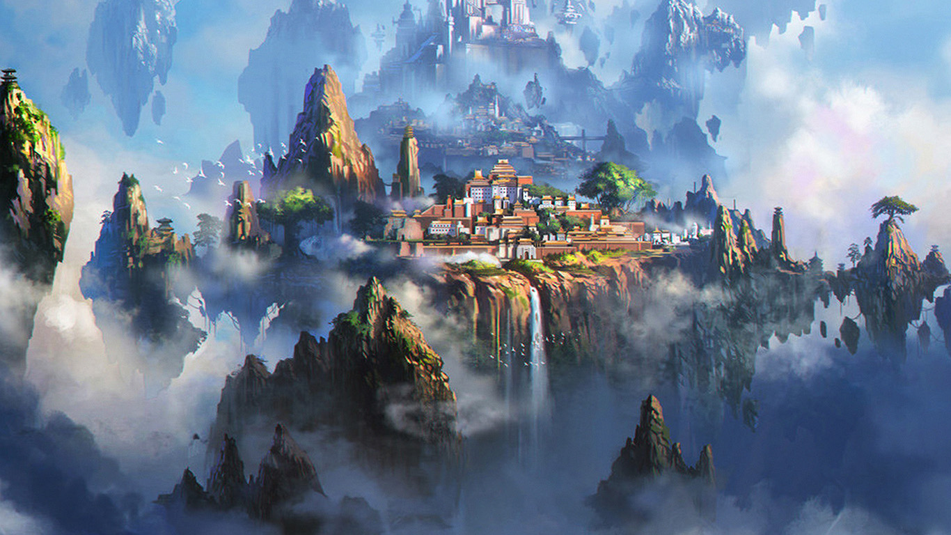 wallpaper-desktop-laptop-mac-macbook-av35-cloud-town-fantasy-anime-liang-xing-illustration-art
