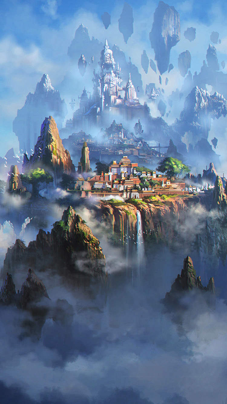 iPhone7papers.com-Apple-iPhone7-iphone7plus-wallpaper-av35-cloud-town-fantasy-anime-liang-xing-illustration-art