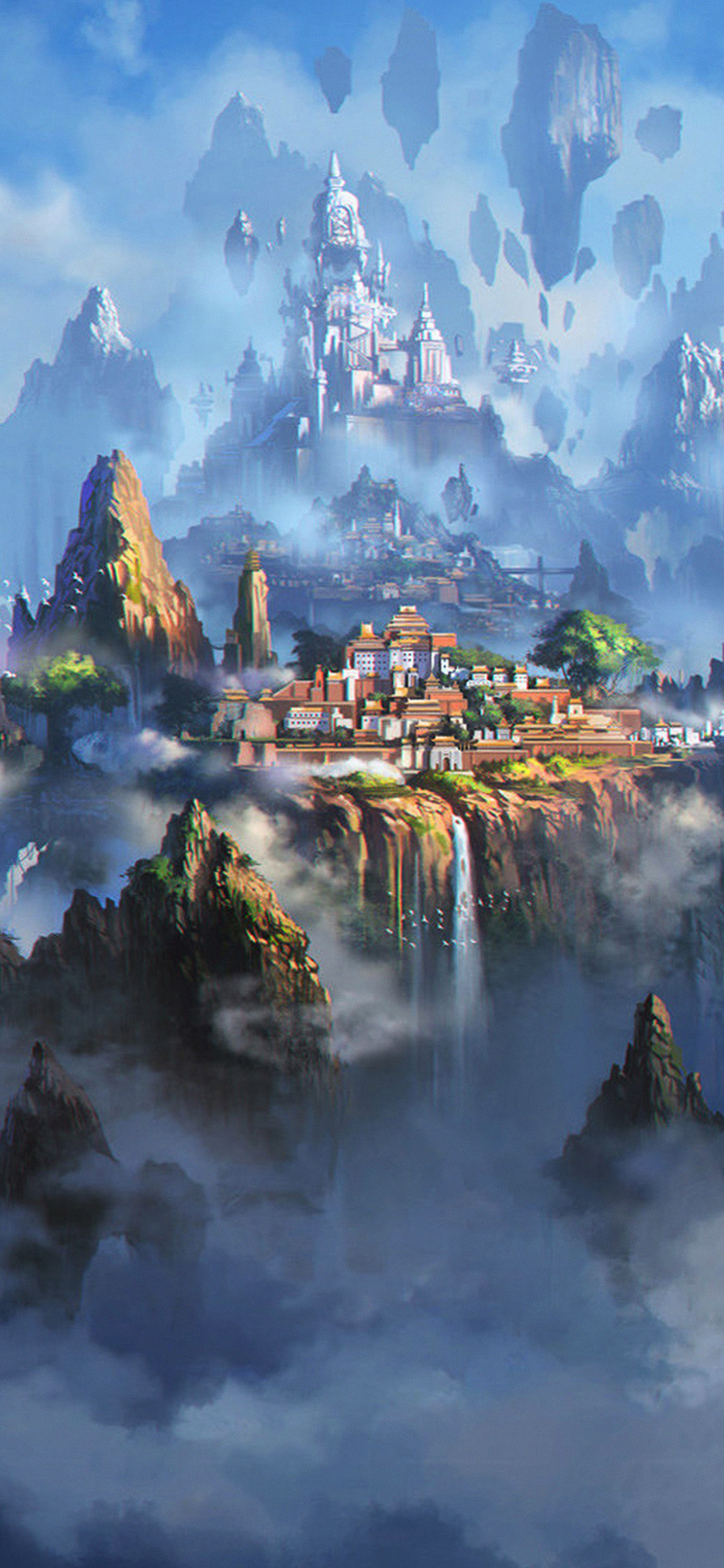 iPhoneXpapers.com-Apple-iPhone-wallpaper-av35-cloud-town-fantasy-anime-liang-xing-illustration-art