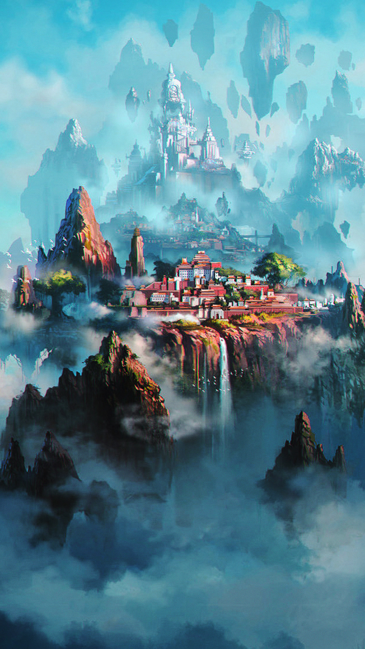 Av36 Cloud Town Fantasy Anime Liang Xing Illustration Art