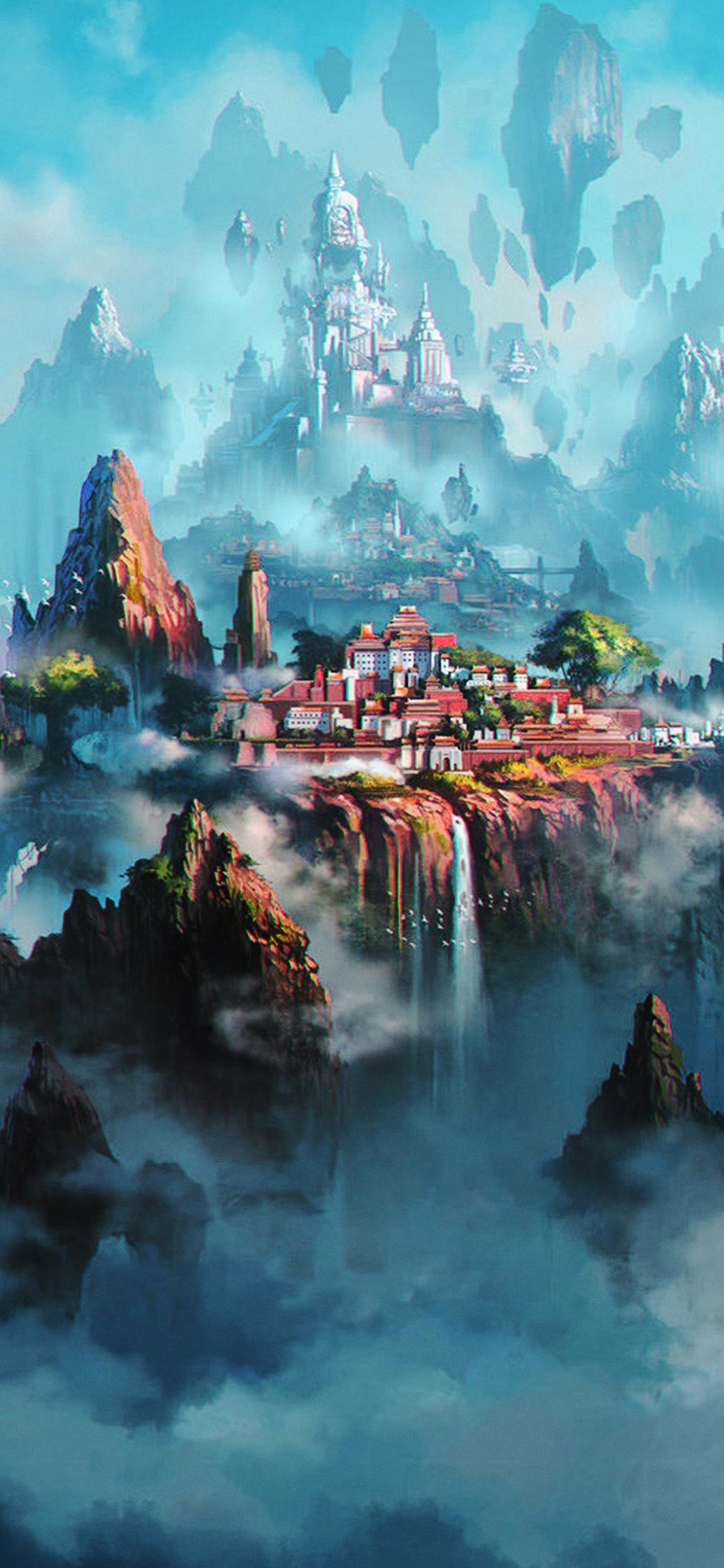 Av36 Cloud Town Fantasy Anime Liang Xing Illustration Art Green