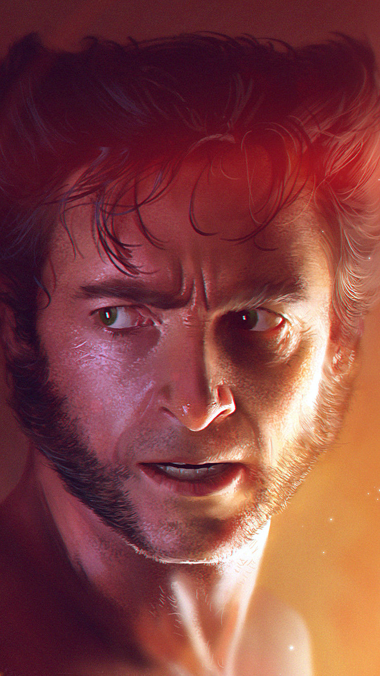 iPhone7papers.com-Apple-iPhone7-iphone7plus-wallpaper-av38-wolverine-xman-hero-liang-xing-illustration-art-flare
