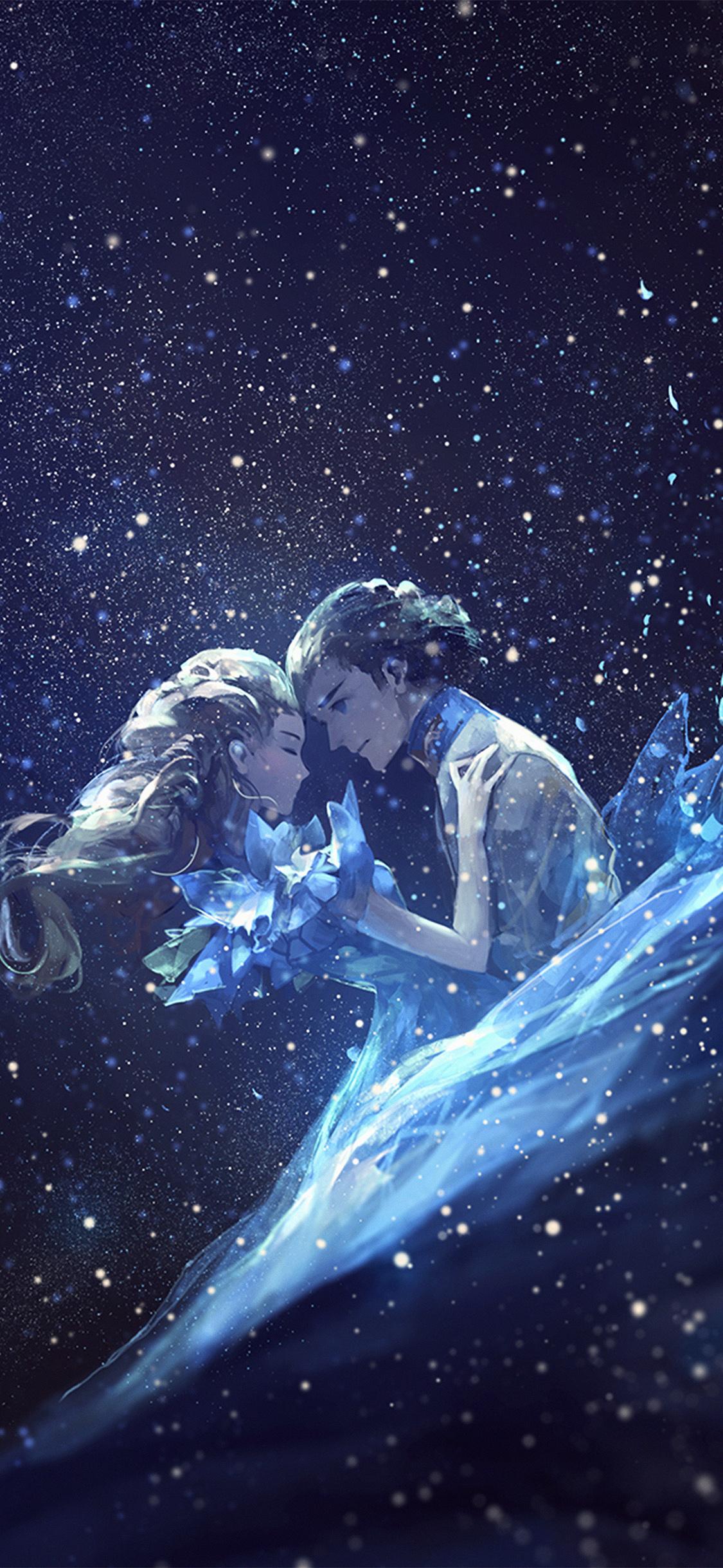 iPhoneXpapers.com-Apple-iPhone-wallpaper-av43-anime-kiss-love-blue-girl-boy-illustration-art