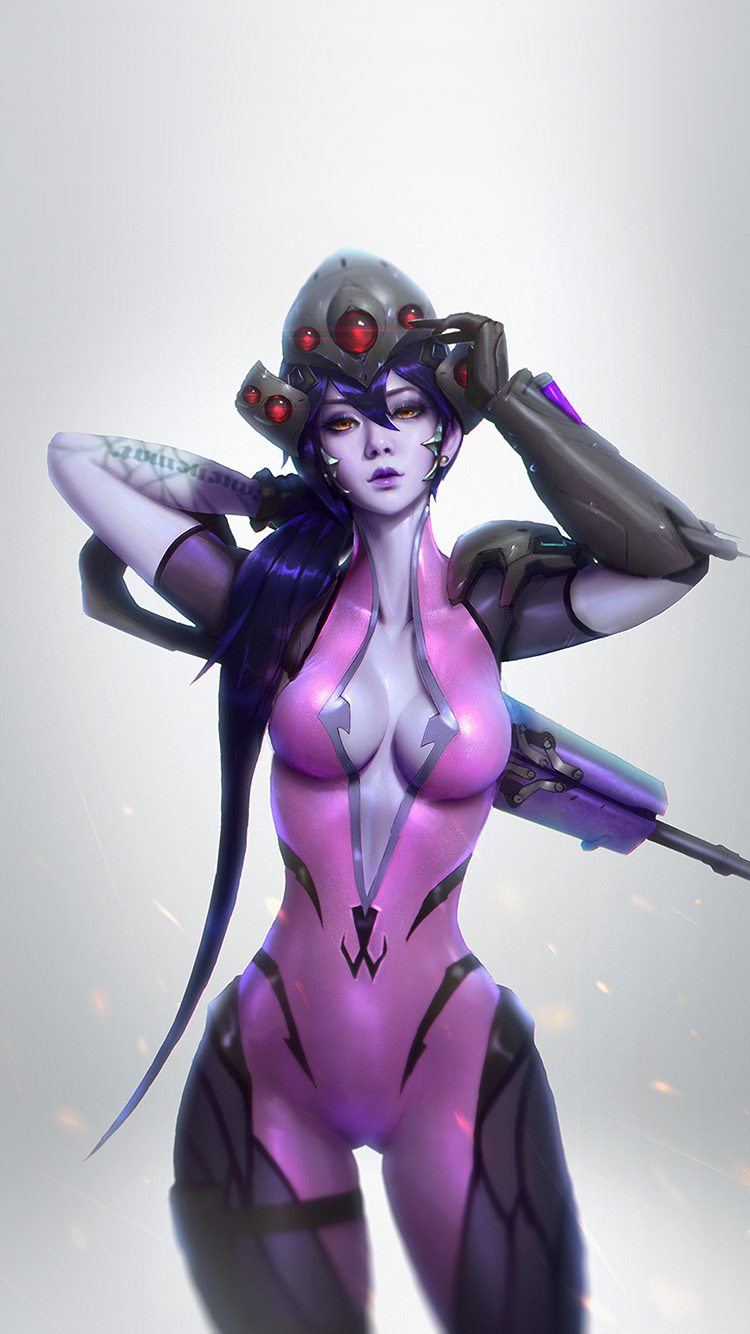 iPhone7papers.com-Apple-iPhone7-iphone7plus-wallpaper-av46-overwatch-widowmaker-paul-kwon-illustration-art