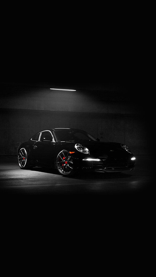 freeios8.com-iphone-4-5-6-plus-ipad-ios8-av48-porsche-illustration-art-super-car-black-dark
