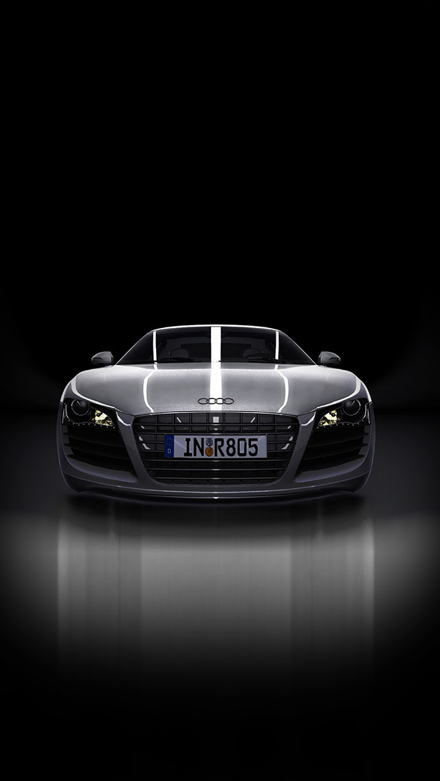 freeios8.com-iphone-4-5-6-plus-ipad-ios8-av50-audi-supercar-dark-black-illustration-art
