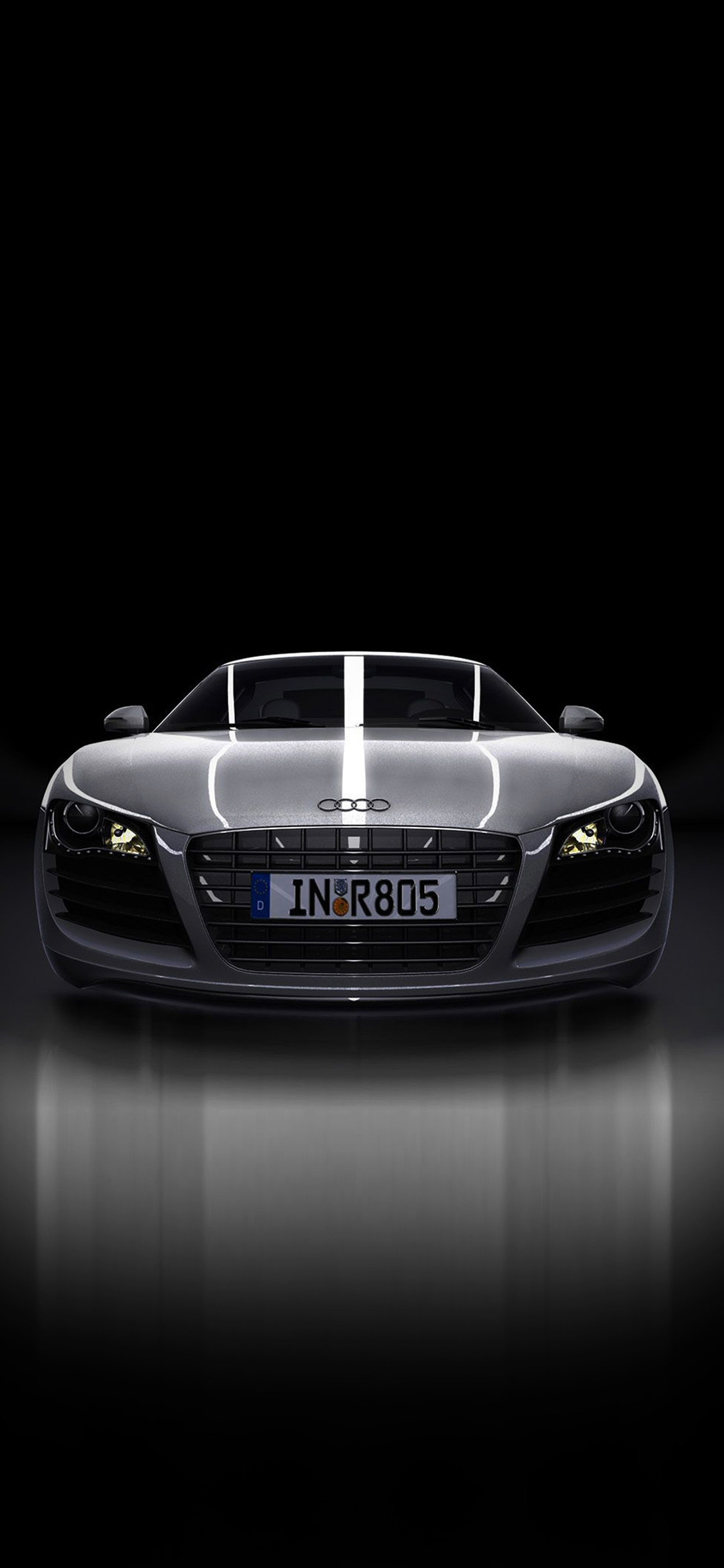 Av50 Audi Supercar Dark Black Illustration Art Wallpaper