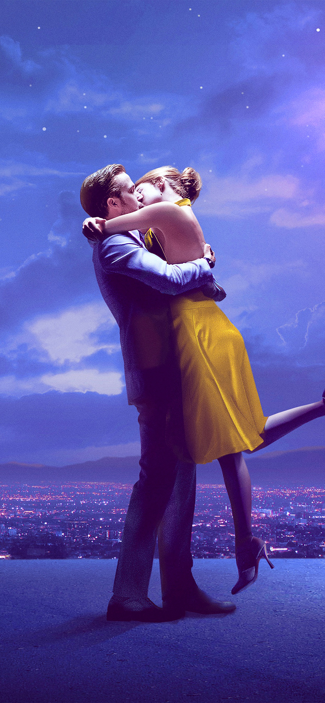 Av60 Lalaland Film Movie Purple Blue Poster Illustration Art