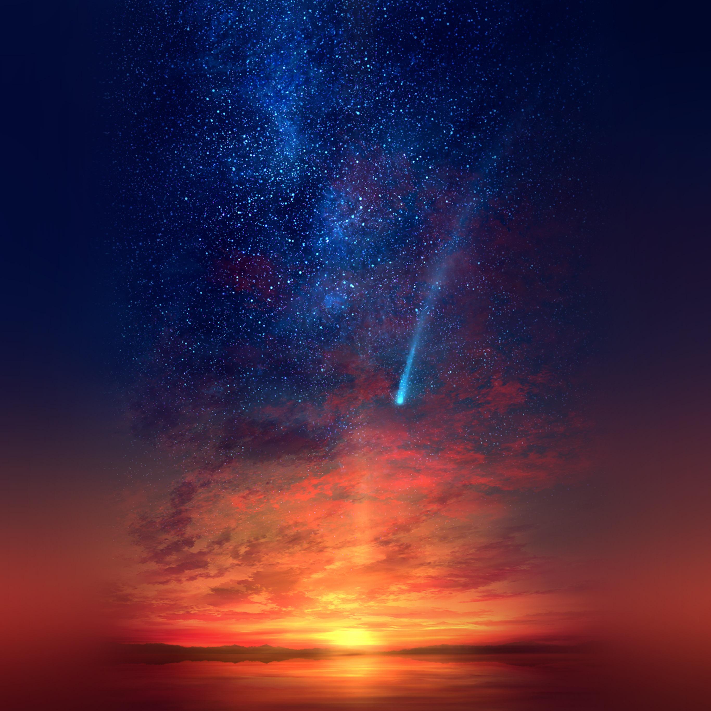 av79-anime-sunset-red-illustration-art-wallpaper