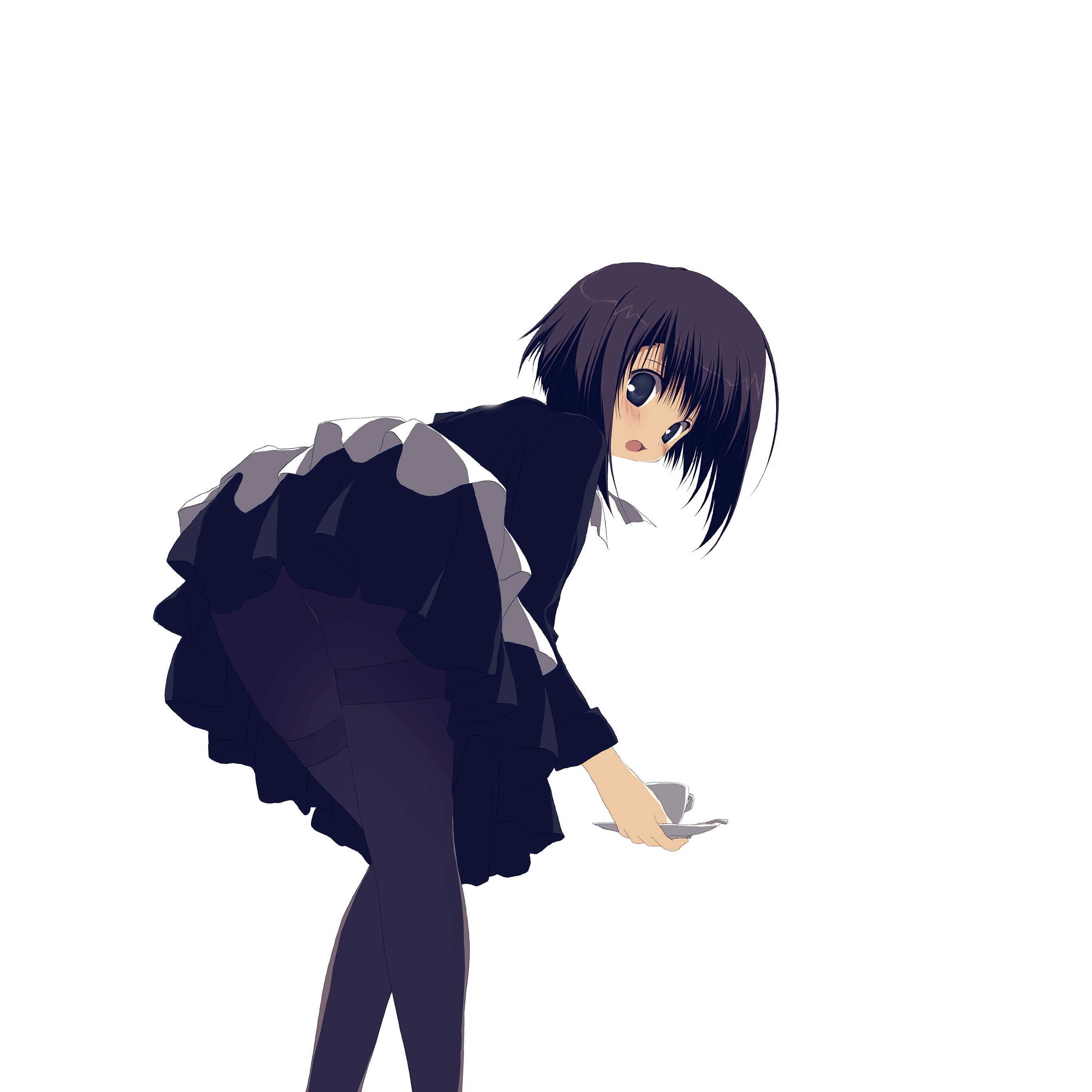 Av81 Girl Anime Black Dress Cute Illustration Art Japanese Wallpaper