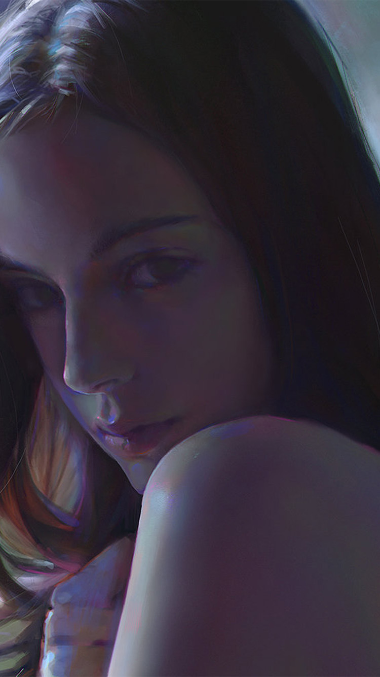 iPhonepapers.com-Apple-iPhone8-wallpaper-av90-yanjun-cheng-girl-paint-dark-illustration-art