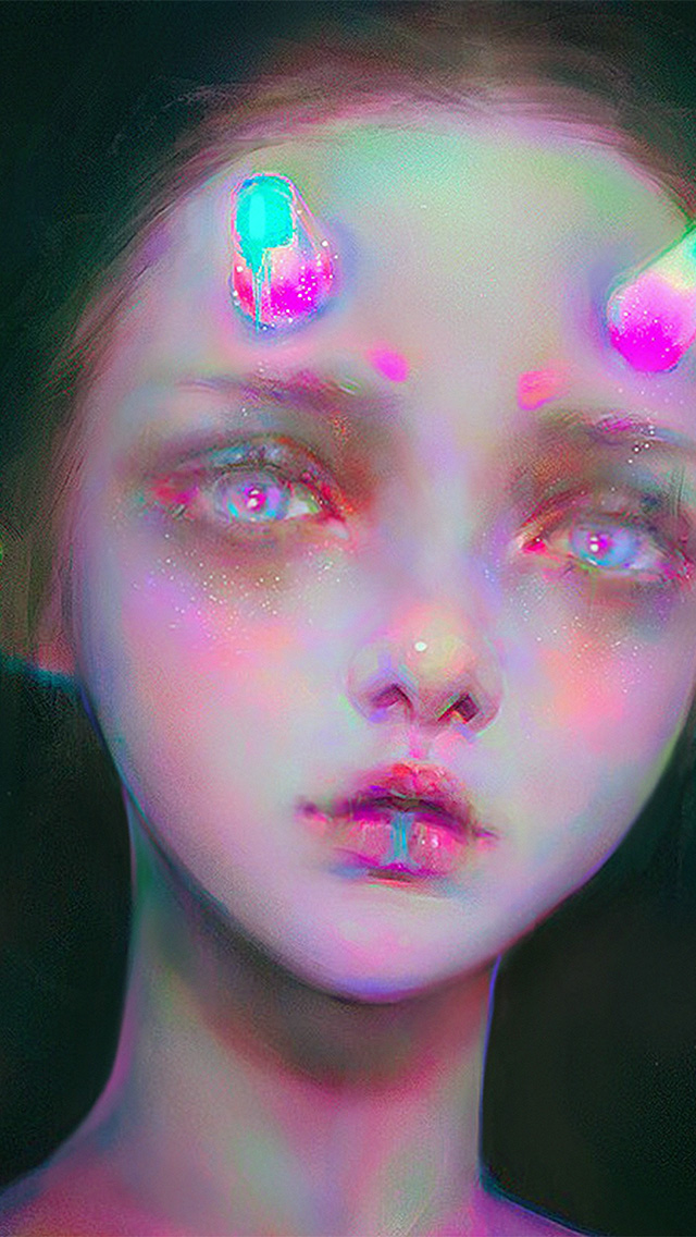 freeios8.com-iphone-4-5-6-plus-ipad-ios8-av92-girl-paint-inner-sin-yanjun-cheng-illustration-art-color