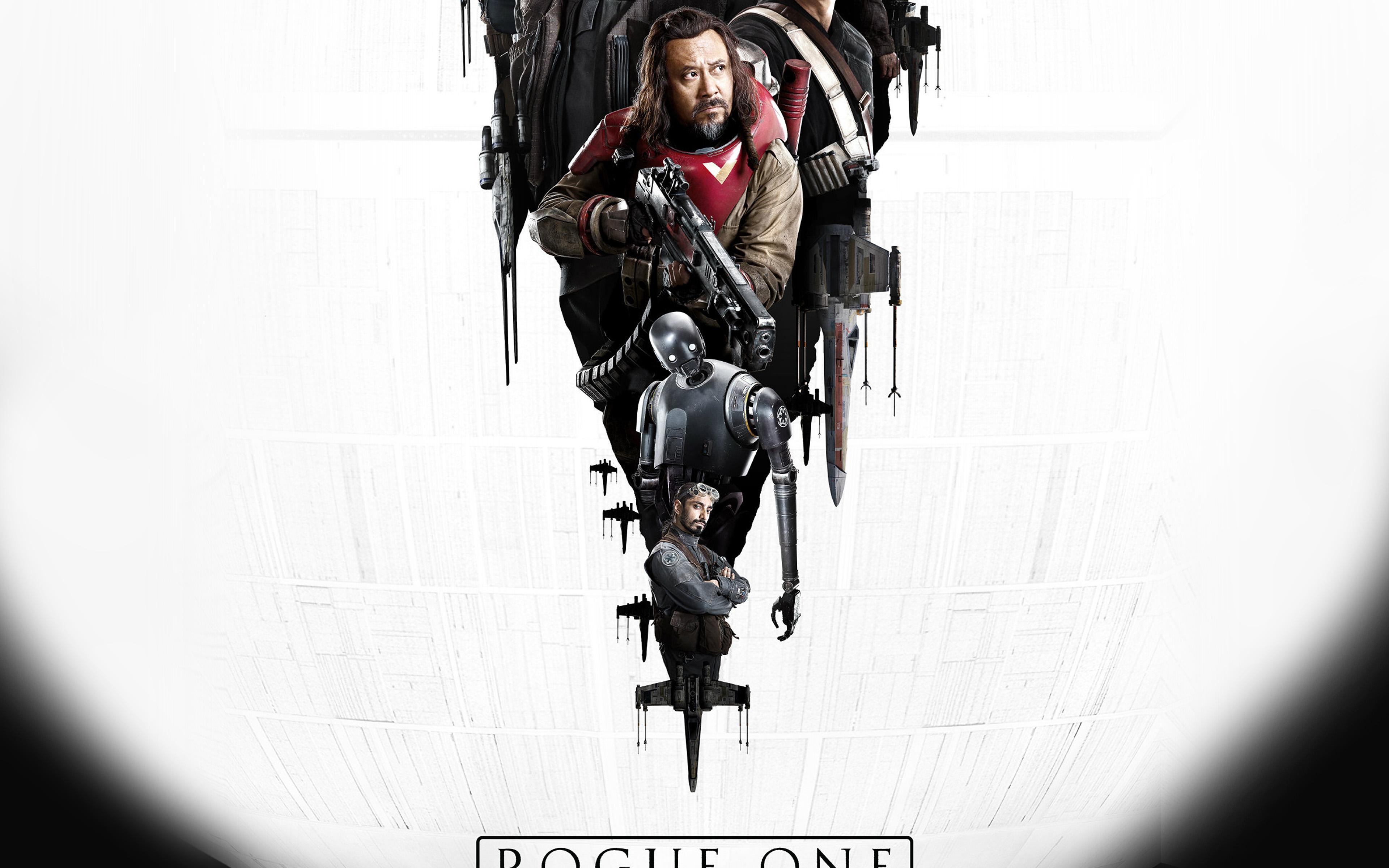 Aw01 Film Rogue One Starwars Poster Illustration Art Wallpaper