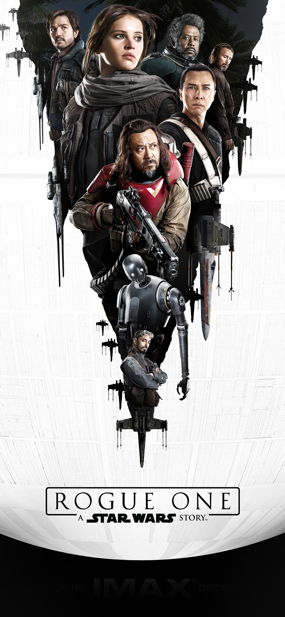 Aw01 Film Rogue One Starwars Poster Illustration Art Wallpaper