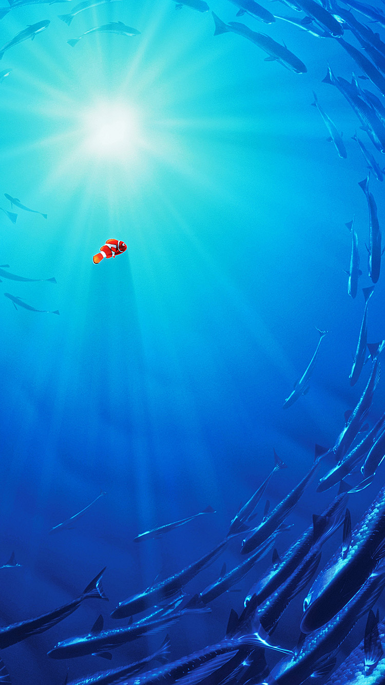 iPhone7papers.com-Apple-iPhone7-iphone7plus-wallpaper-aw13-nemo-disney-film-anime-sea-illustration-art-blue
