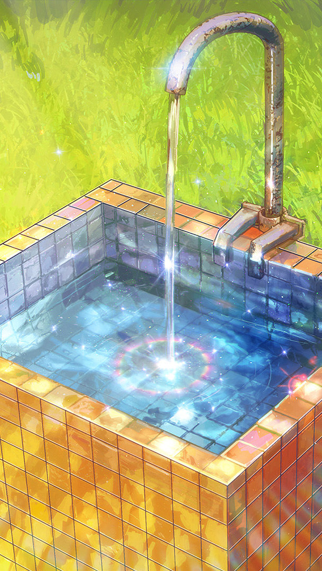freeios8.com-iphone-4-5-6-plus-ipad-ios8-aw14-water-anime-paint-color-illustration-art-arseniy-chebynkin