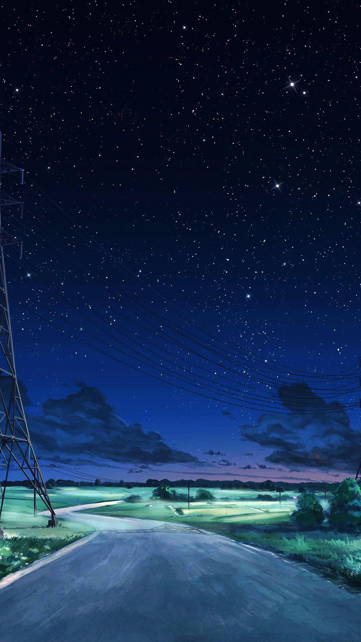 Aw16 arseniy chebynkin night sky star blue illustration - Anime sky background ...