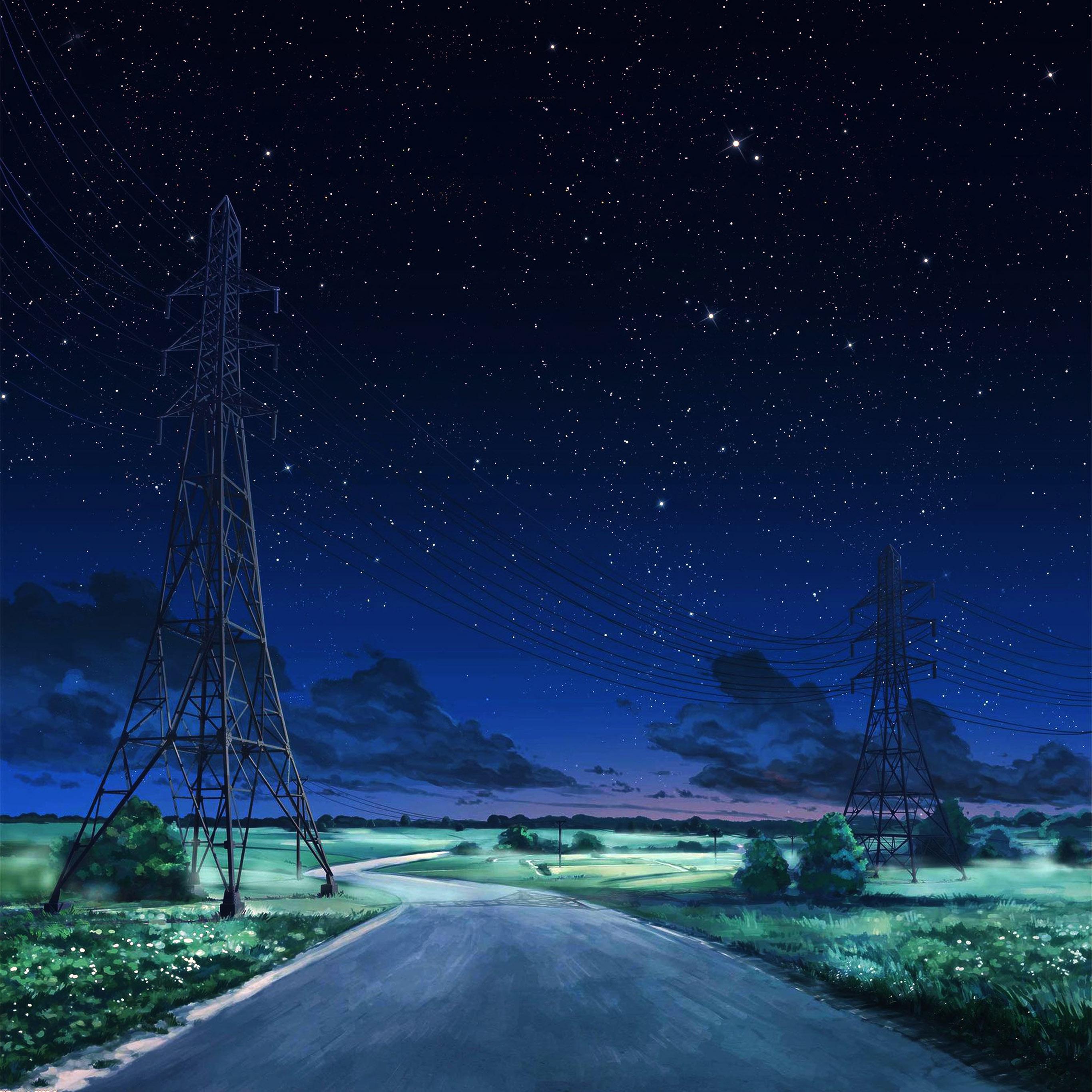Aw16 Arseniy Chebynkin Night Sky Star Blue Illustration