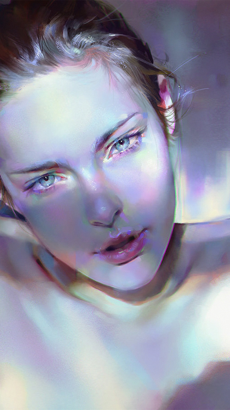 iPhone7papers.com-Apple-iPhone7-iphone7plus-wallpaper-aw19-girl-blue-face-sexy-paint-anime-illustration-art-yanjun-cheng