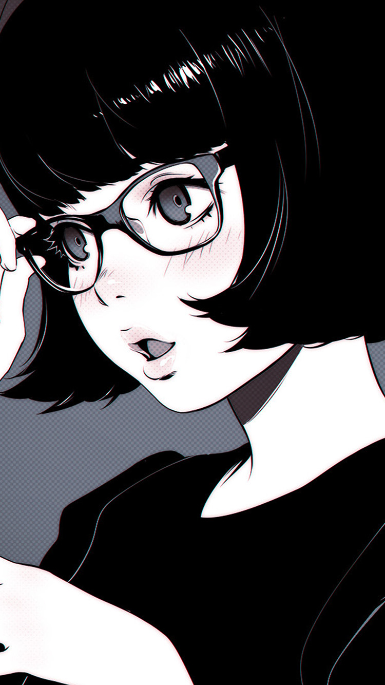 iPhonepapers.com-Apple-iPhone8-wallpaper-aw22-girl-bw-anime-ilya-kuvshinov-illustration-art