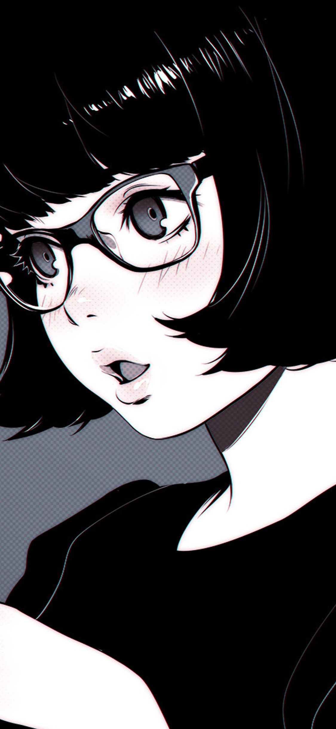 iPhoneXpapers.com-Apple-iPhone-wallpaper-aw22-girl-bw-anime-ilya-kuvshinov-illustration-art