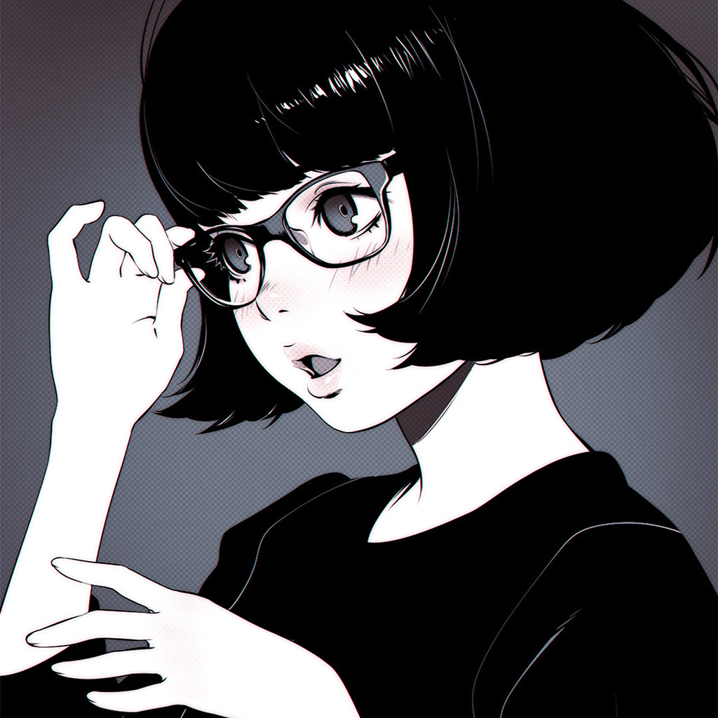 android-wallpaper-aw22-girl-bw-anime-ilya-kuvshinov-illustration-art-wallpaper