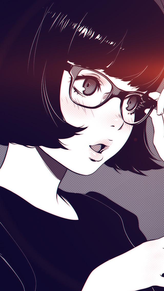 freeios8.com-iphone-4-5-6-plus-ipad-ios8-aw23-girl-bw-anime-ilya-kuvshinov-illustration-art-flare